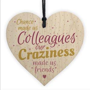 Wooden Heart Colleague Ornament
